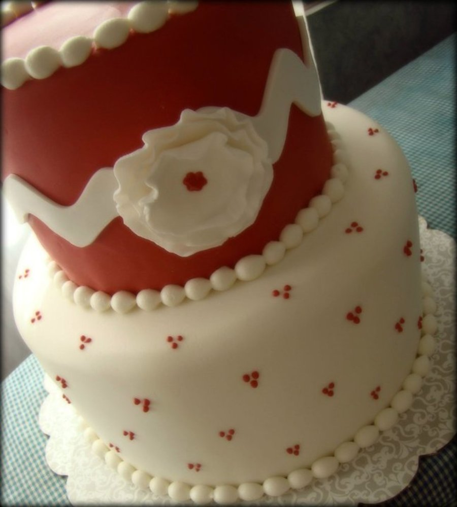 Red And White Birthday on Cake Central