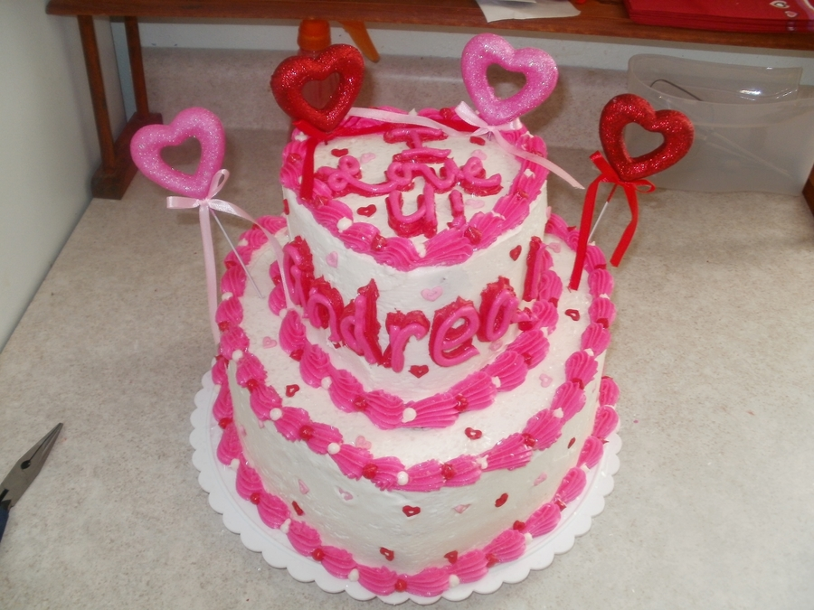 Valentines Day Heart Cake  on Cake Central