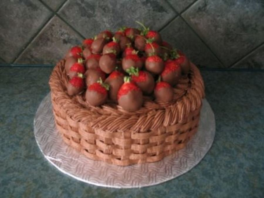Basket Of Strawberries on Cake Central