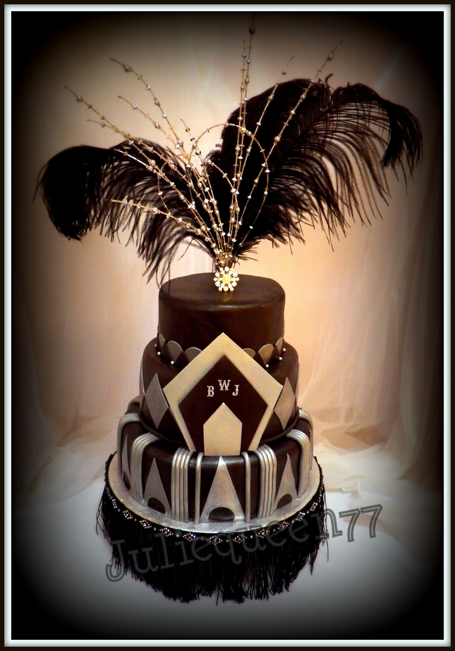 I Wanted To Design A Cake With A 1920S Theme For Quite Some Time But Never Had The Occasion Needless To Say I Was Thrilled A Client Conta on Cake Central