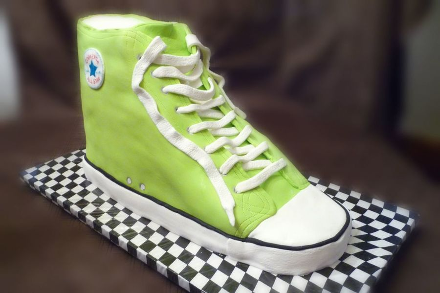 Converse Chuck Taylor Sneaker Lime Green on Cake Central