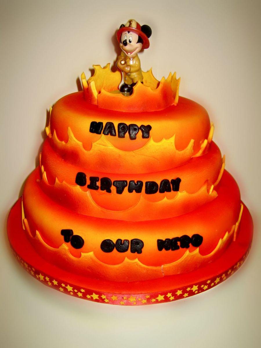 Mickey Mouse Fireman Cake