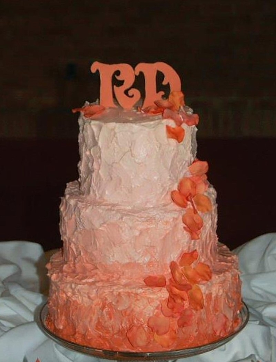 peach wedding cake gallery ombre wedding cake cakecentral 18146