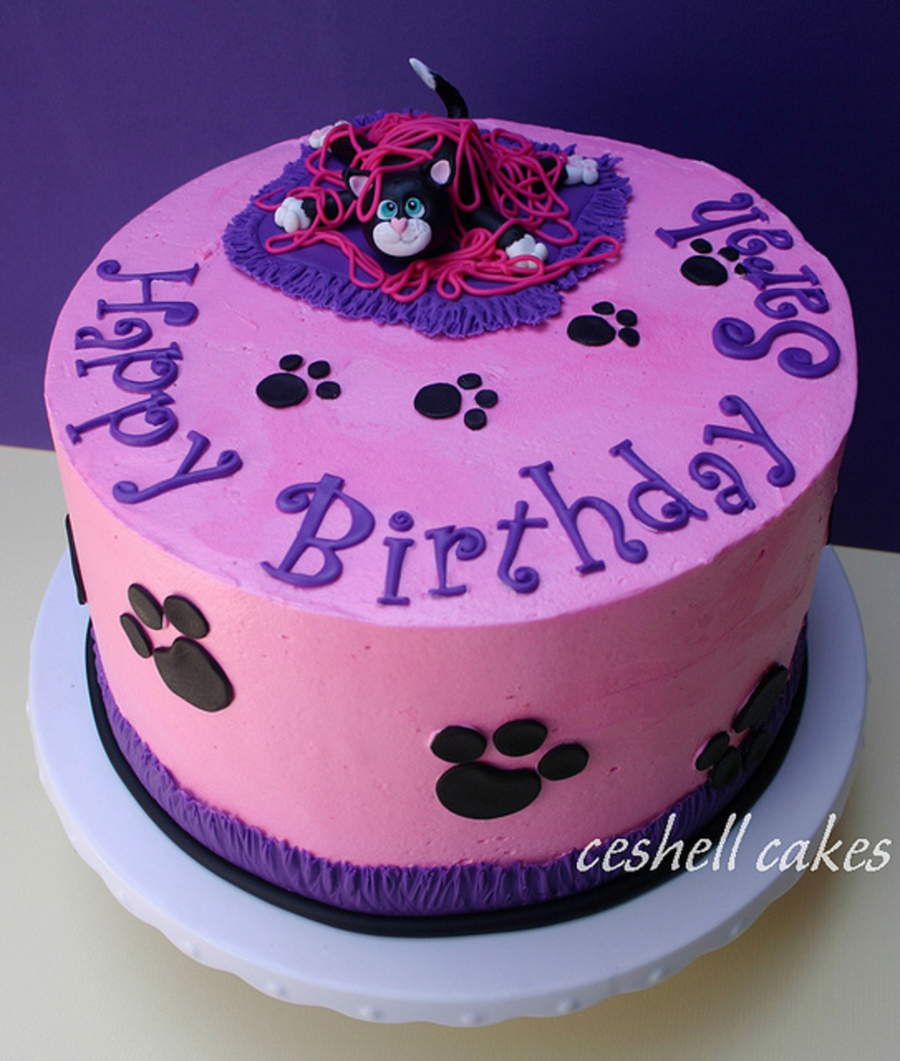 Cute Kitty Birthday on Cake Central