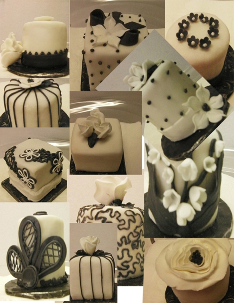 Black And White Under Different Lights on Cake Central