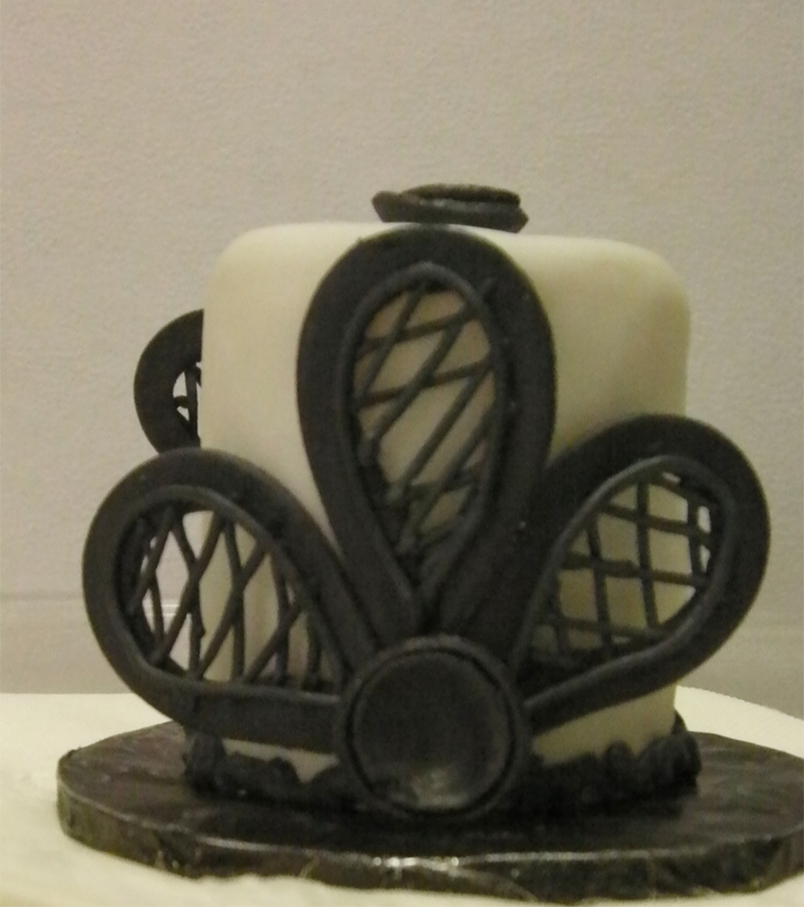 Black And White Bridal Shower Mini Cakes on Cake Central