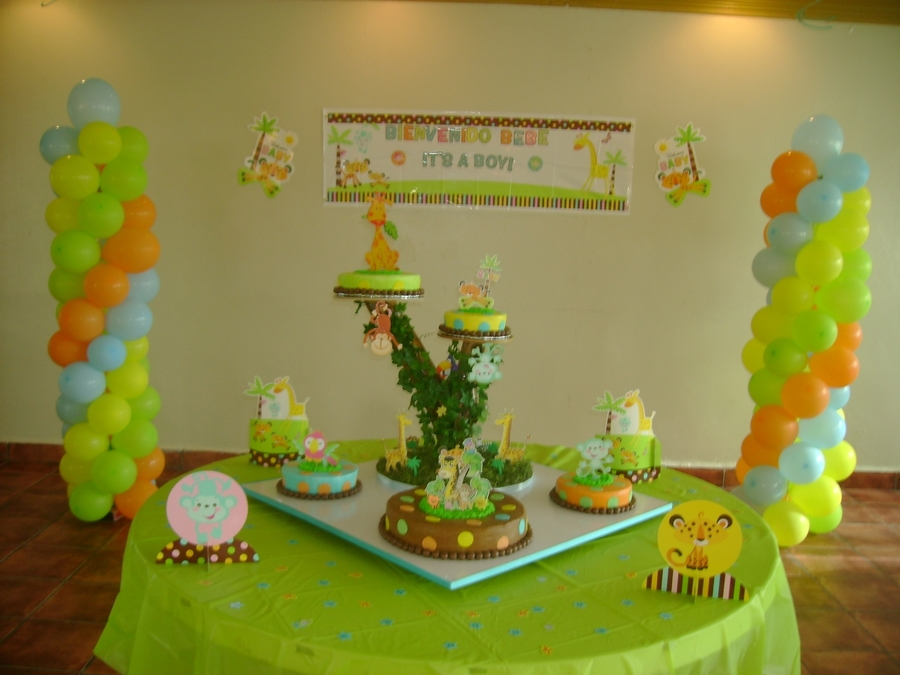 Forest Animal Baby Shower Cake On Cake Central