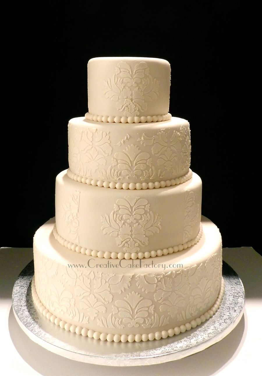 Damask Wedding Cake Ideas