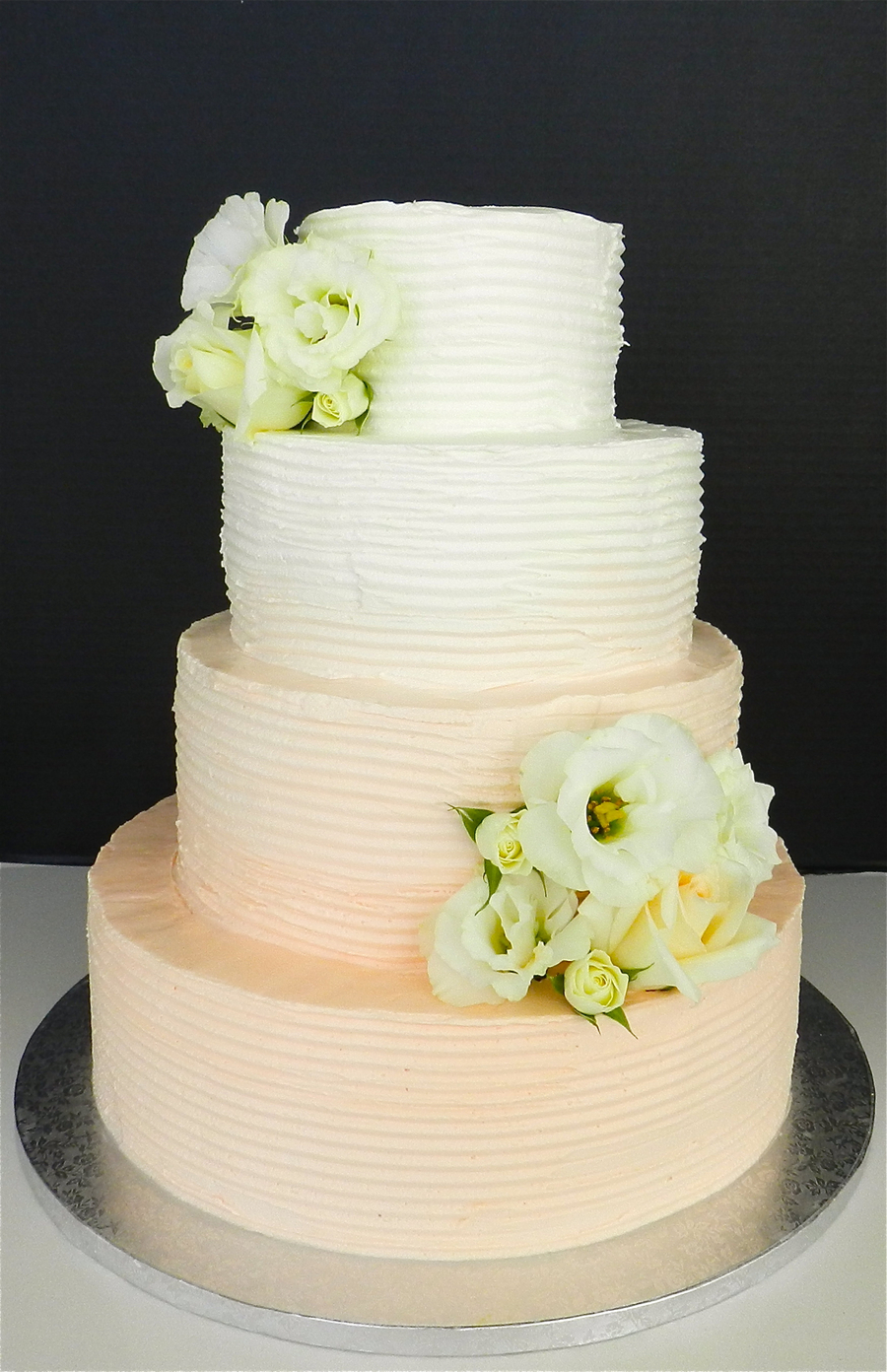 Buttercream Ombre Wedding Cake on Cake Central