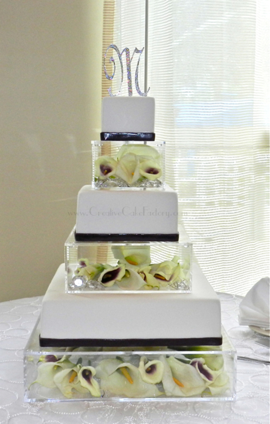 Floral Acrylic Boxes Wedding Cake Cakecentral Com