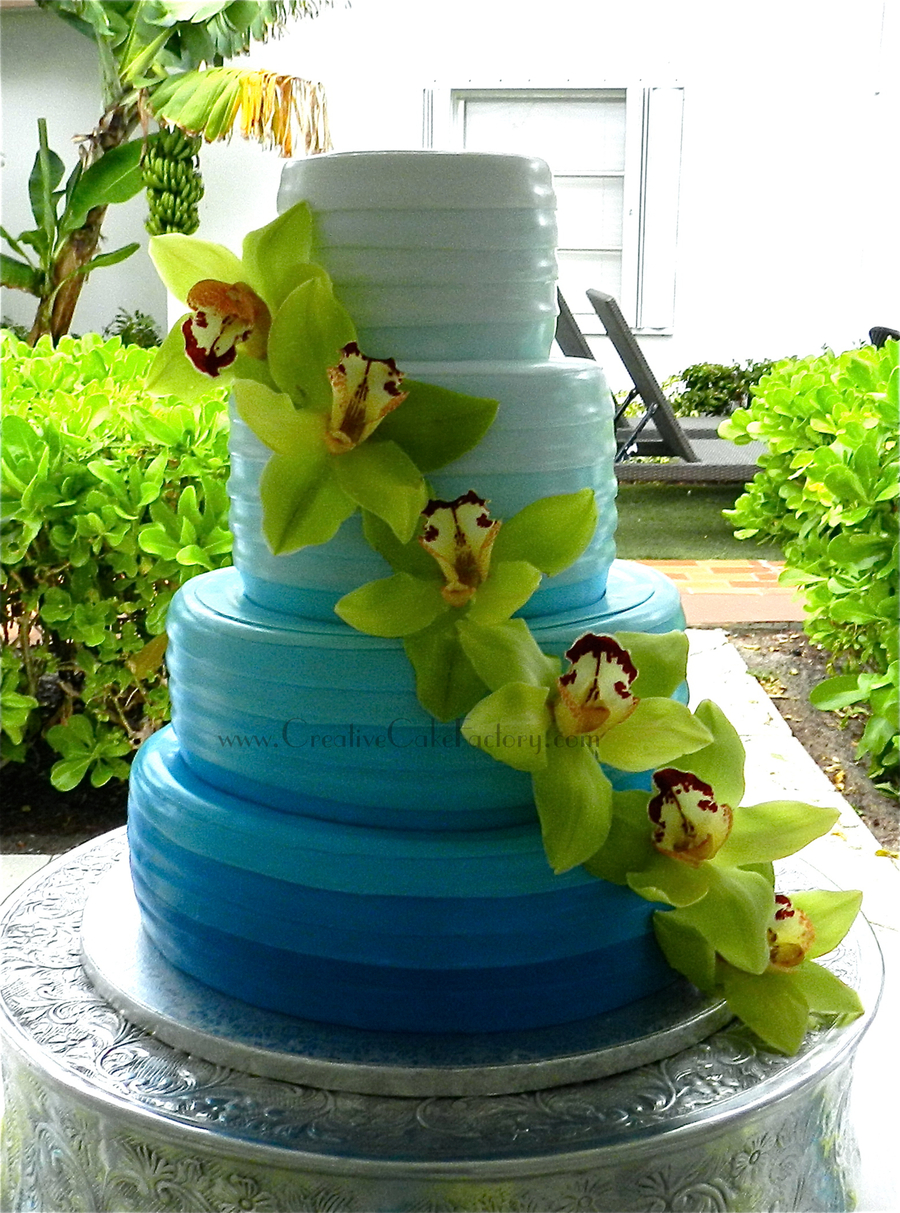 Ombre Wedding Cake on Cake Central