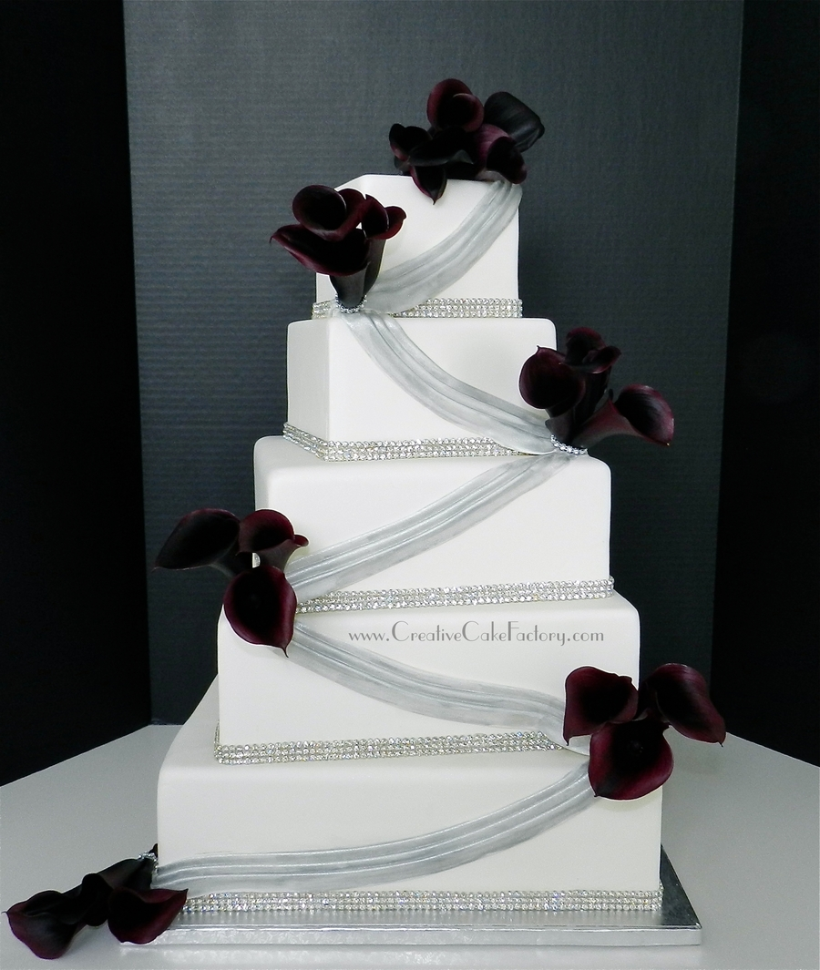 Swag Wedding Cake on Cake Central
