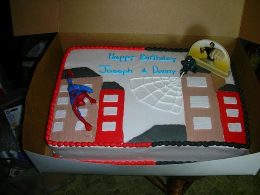 Spider Man 3D Cake  on Cake Central
