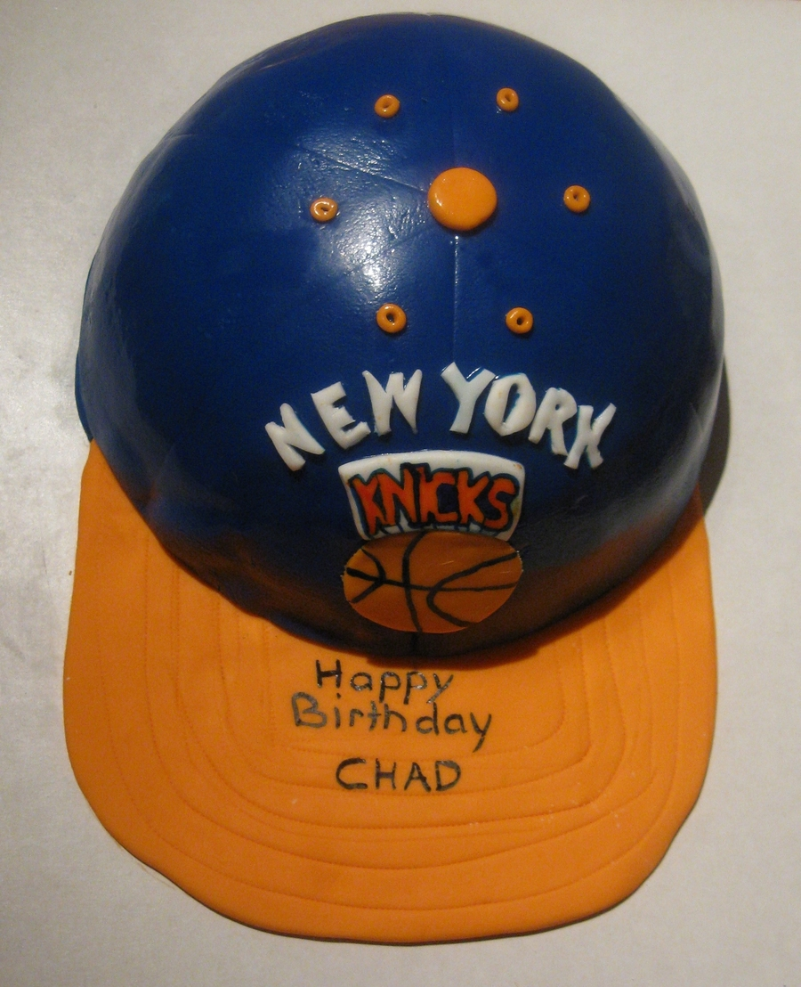 New York Knicks Ball Cap on Cake Central