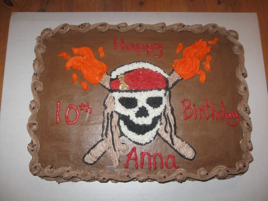 Fine Pirates Of The Caribbean Cakecentral Com Funny Birthday Cards Online Aeocydamsfinfo