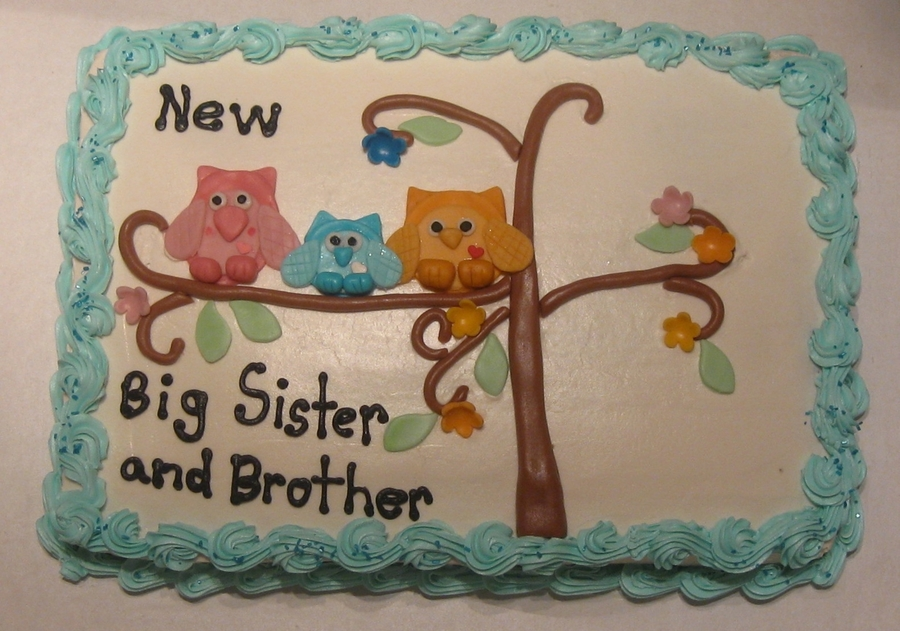 Owls, Big Brother And Big Sister on Cake Central
