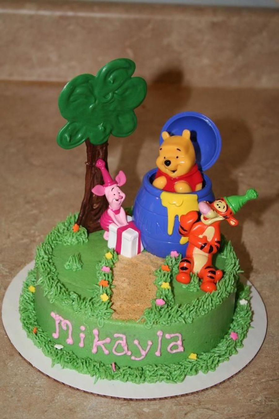 Winne The Pooh Smash Cake on Cake Central