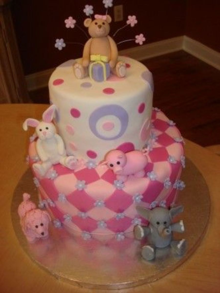 Stuffed Animal Birthday Cake on Cake Central
