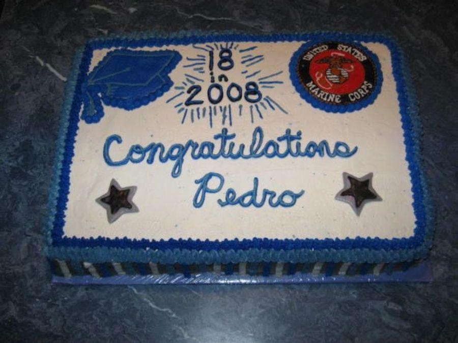 Stupendous Graduation Birthday Marines Cakecentral Com Personalised Birthday Cards Akebfashionlily Jamesorg
