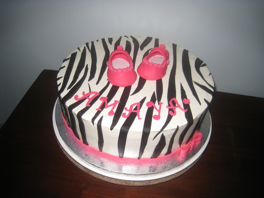 Zebra And Pink on Cake Central
