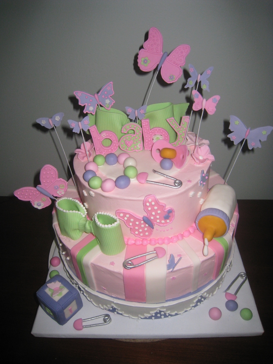 Butterflies And Baby on Cake Central