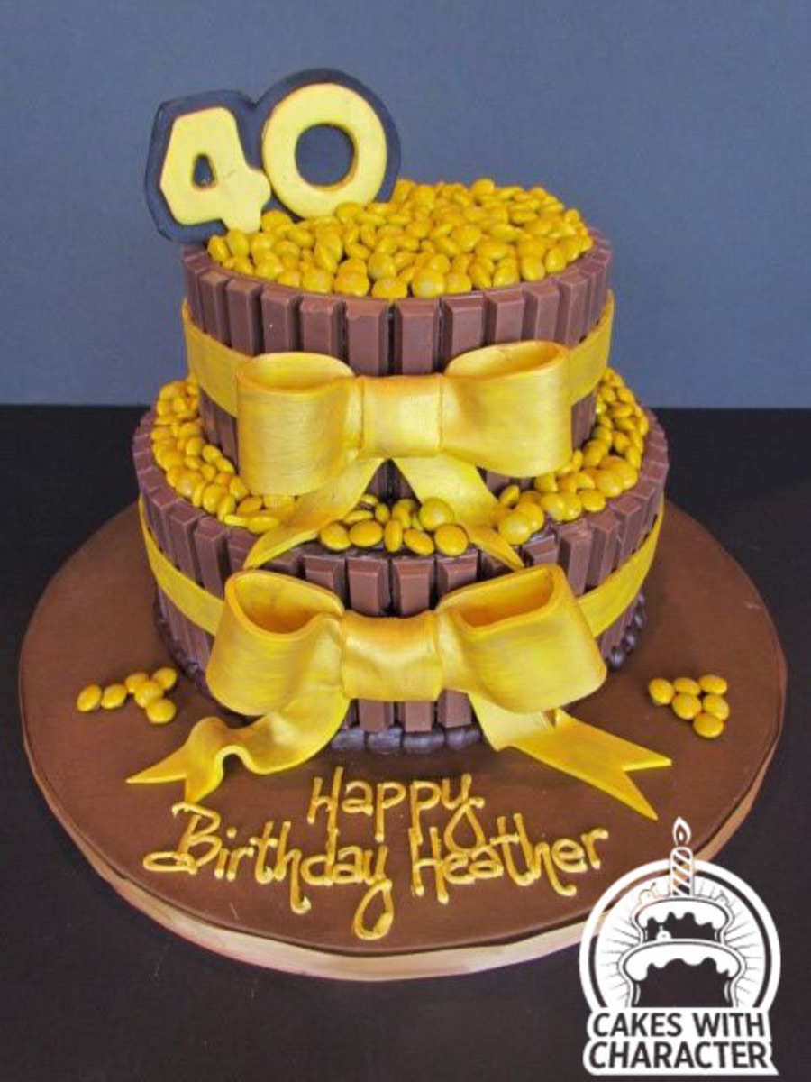 40Th Birthday Kit Kat Cake CakeCentralcom