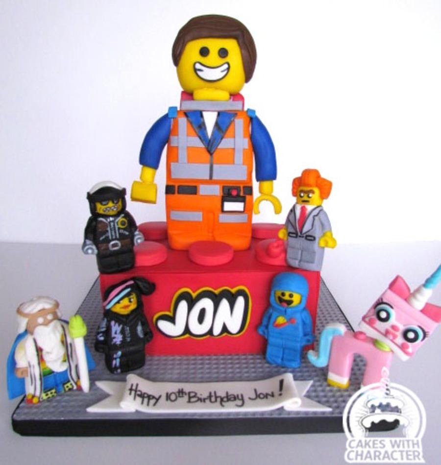 Pleasing Lego Movie Cake Cakecentral Com Birthday Cards Printable Trancafe Filternl