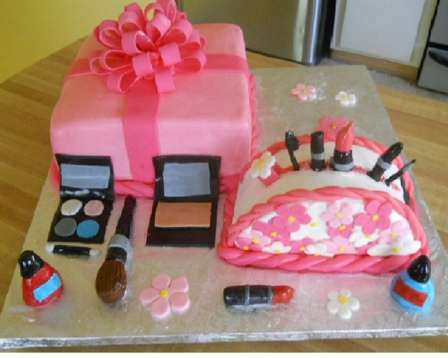 Girly Makeup Cake on Cake Central