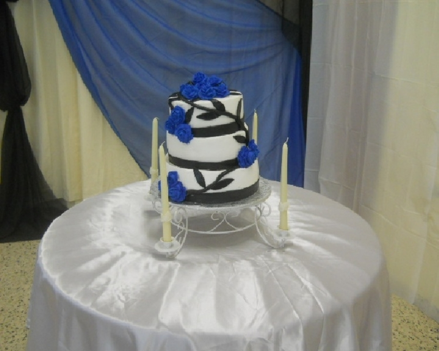 Blue Rose on Cake Central