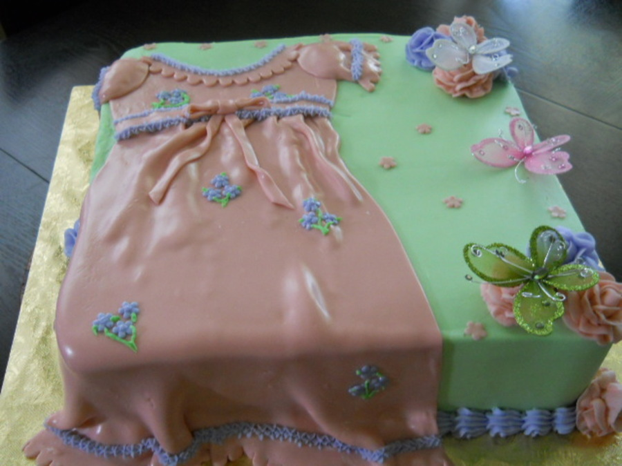Babyshower Dress on Cake Central