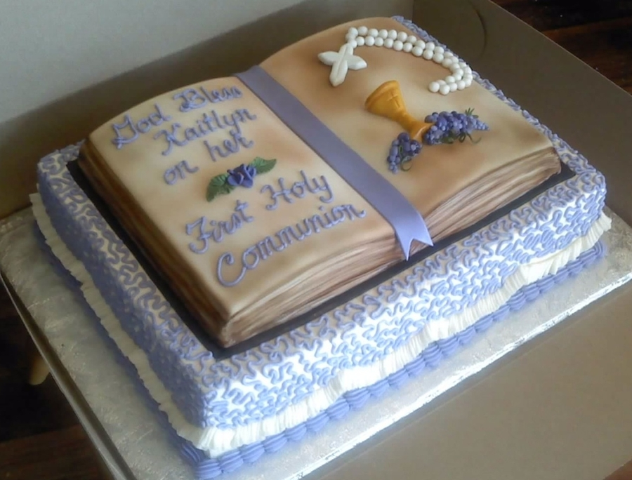 Communion Bible on Cake Central