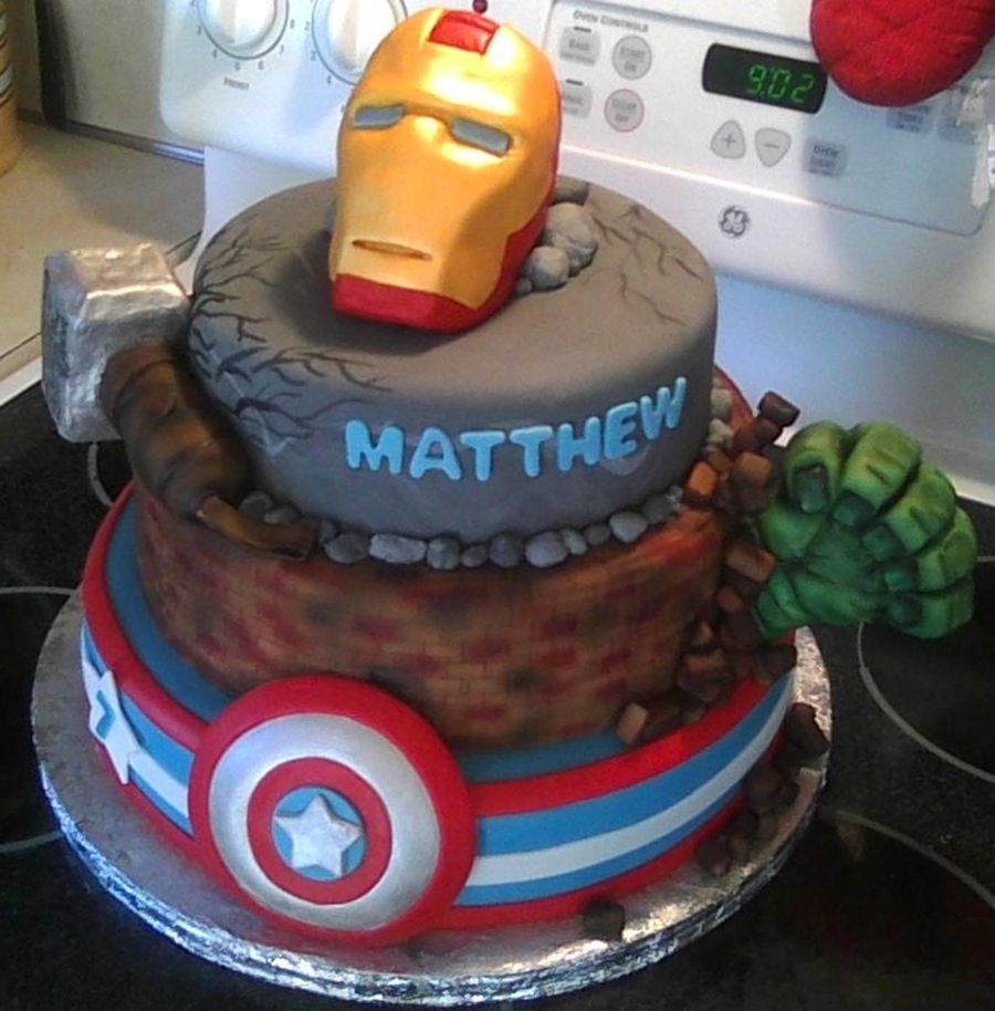 Avengers Cake Decorating Ideas