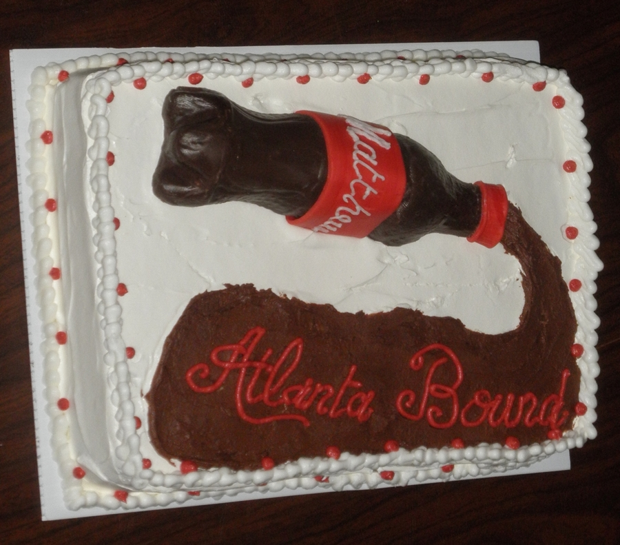 Chocolate Coke Bottle on Cake Central