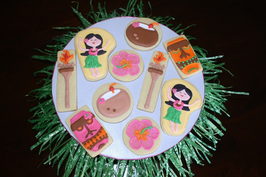 Luau Theme Cookies on Cake Central