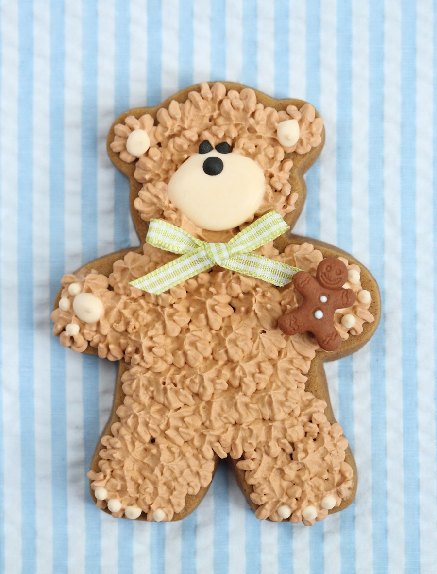 Teddy Bear Cookie on Cake Central