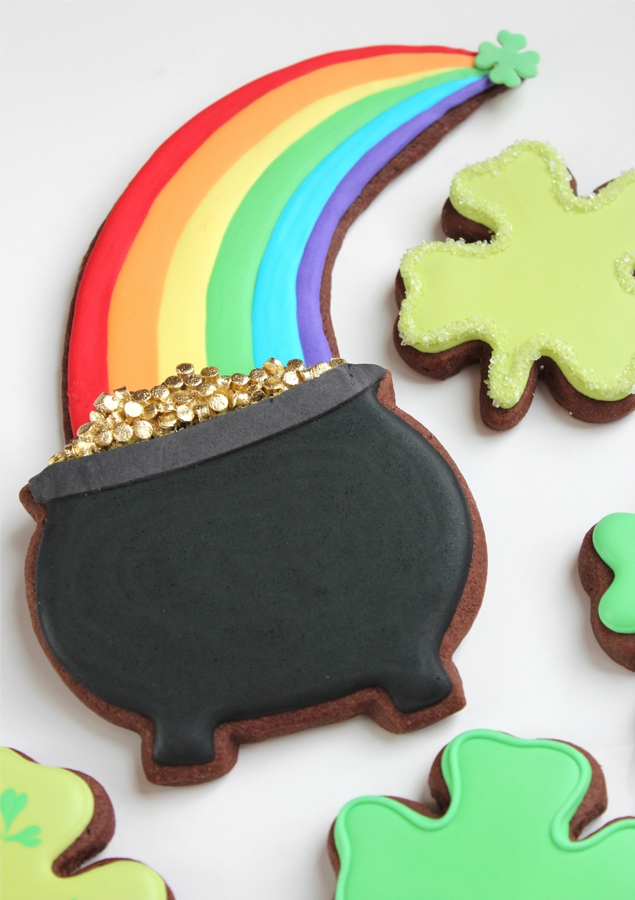 Pot Of Gold St. Patrick's Day Cookies  on Cake Central