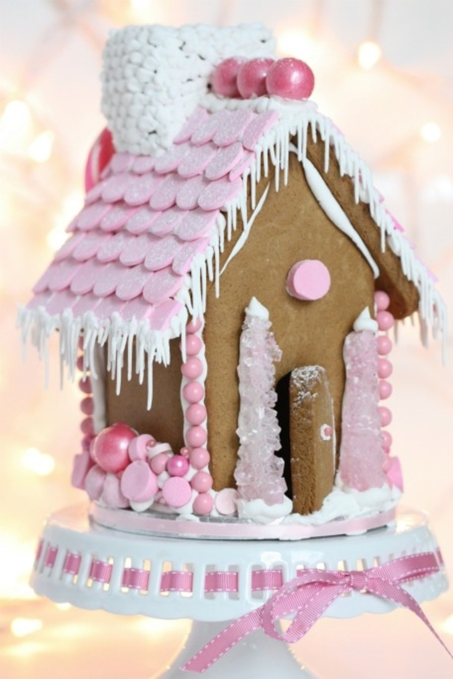 Pink Gingerbread House  on Cake Central