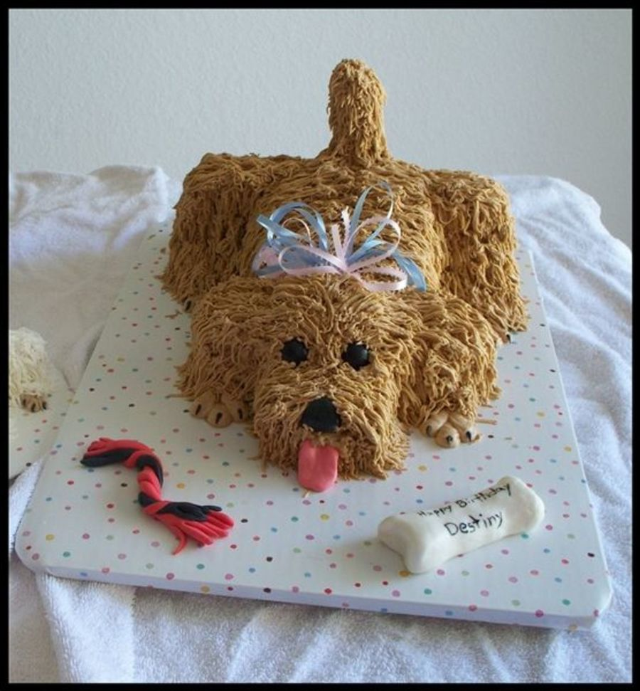 Puppy Birthday Cake on Cake Central