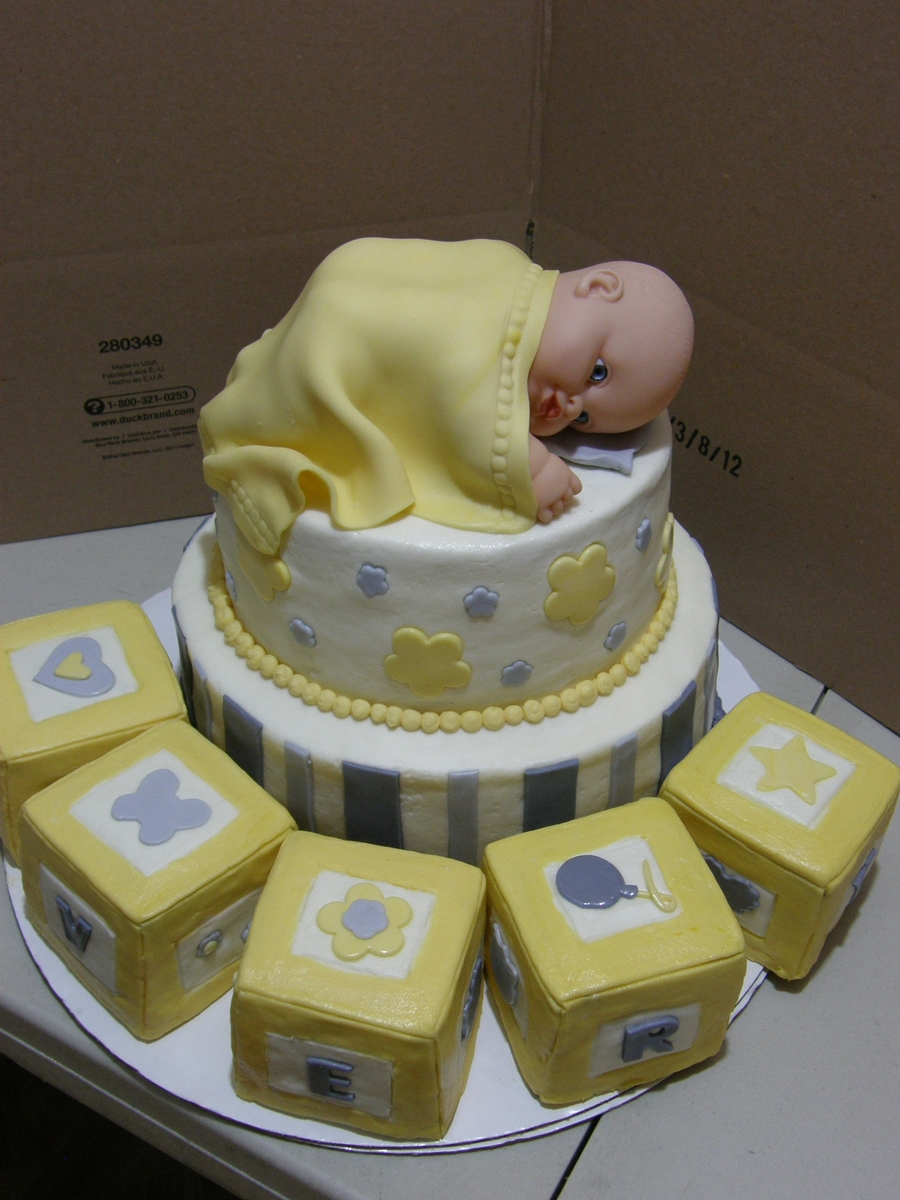Baby Avery Blocks on Cake Central