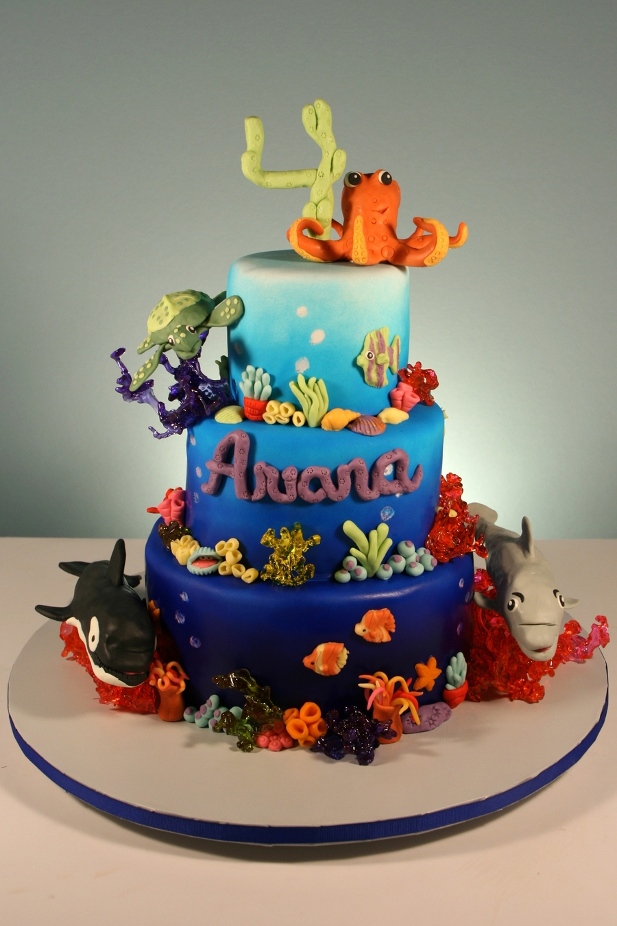 Beach Themed Birthday Cake Decorations