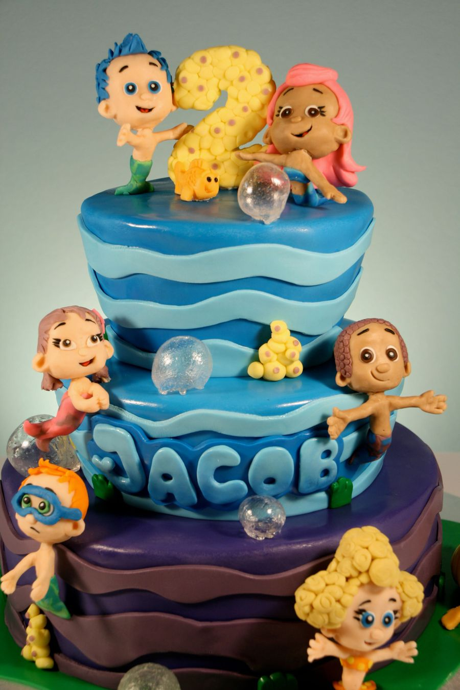 Bubble guppies cake - Bubulles guppies ...
