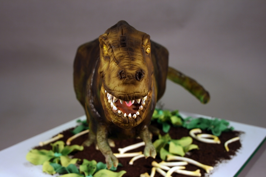 T Rex Birthday Cake Cakecentral Com