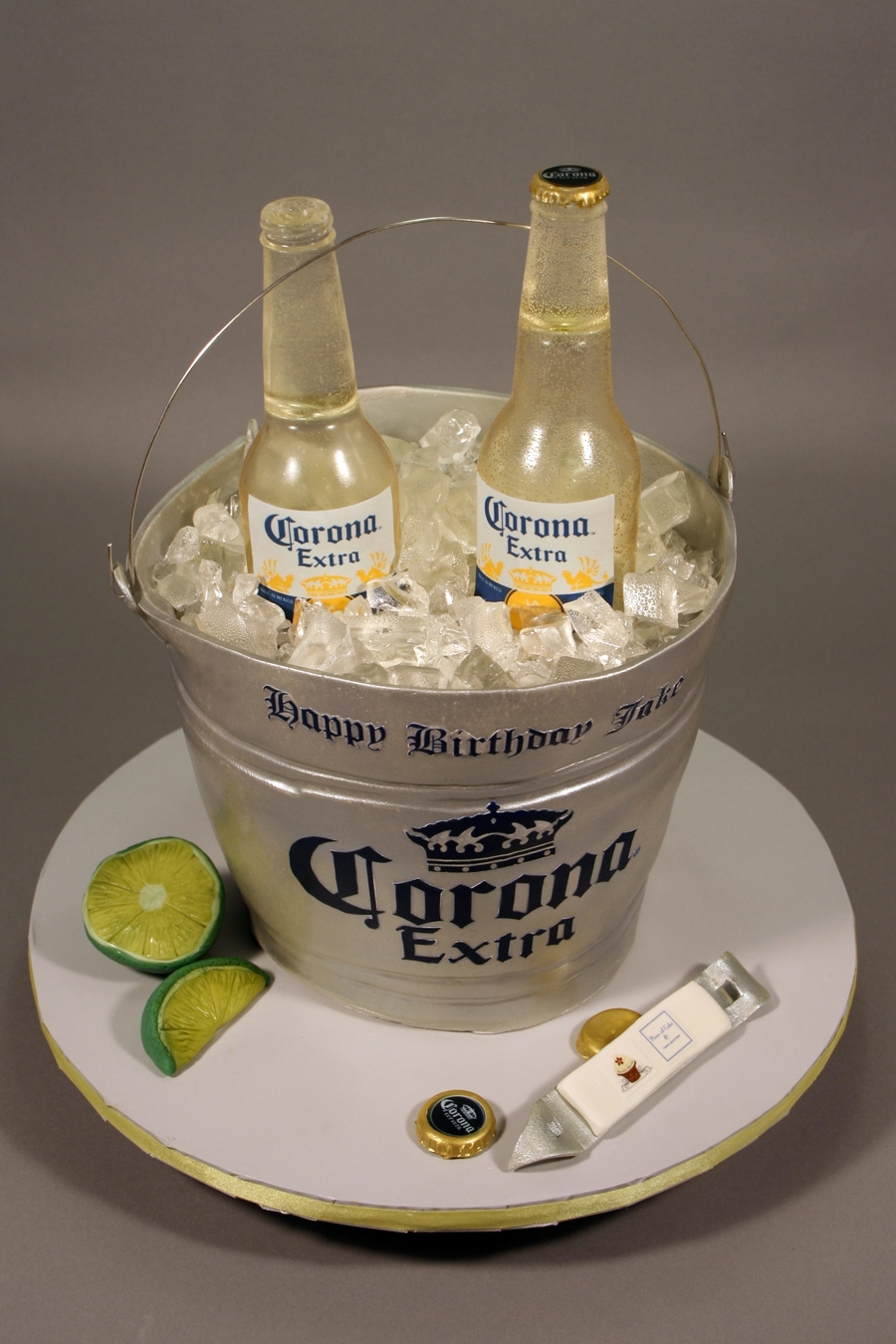corona beer bottle bucket birthday cake cakecentralcom
