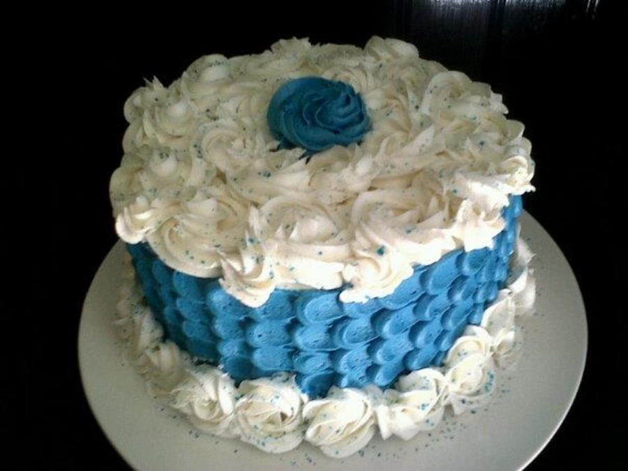 Shimmery Blue Moon on Cake Central
