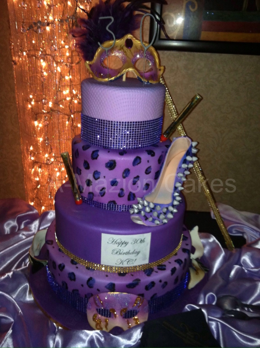 30th Masquerade Birthday Cake Cakecentral