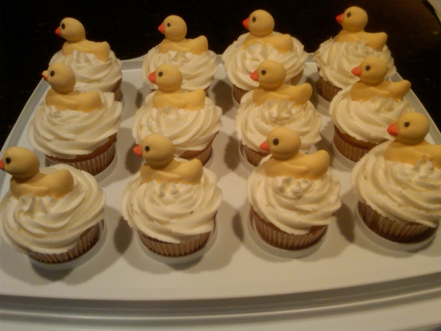 Baby Duckie Cupcakes  on Cake Central