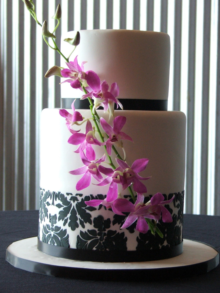 Damask And Orchids on Cake Central