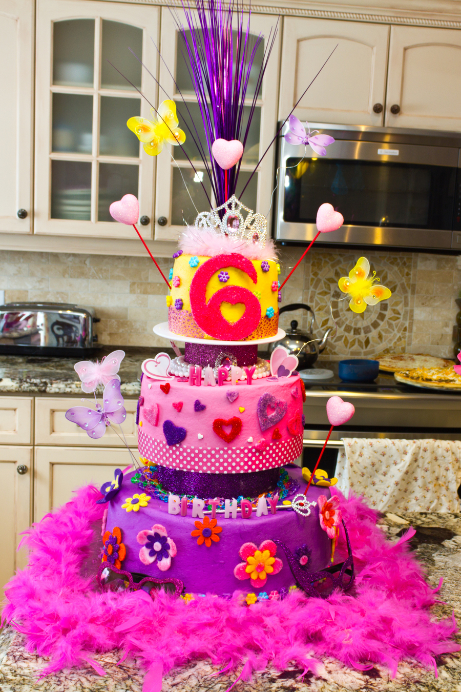 Phenomenal Fancy Nancy Birthday Party Cake Cakecentral Com Funny Birthday Cards Online Barepcheapnameinfo