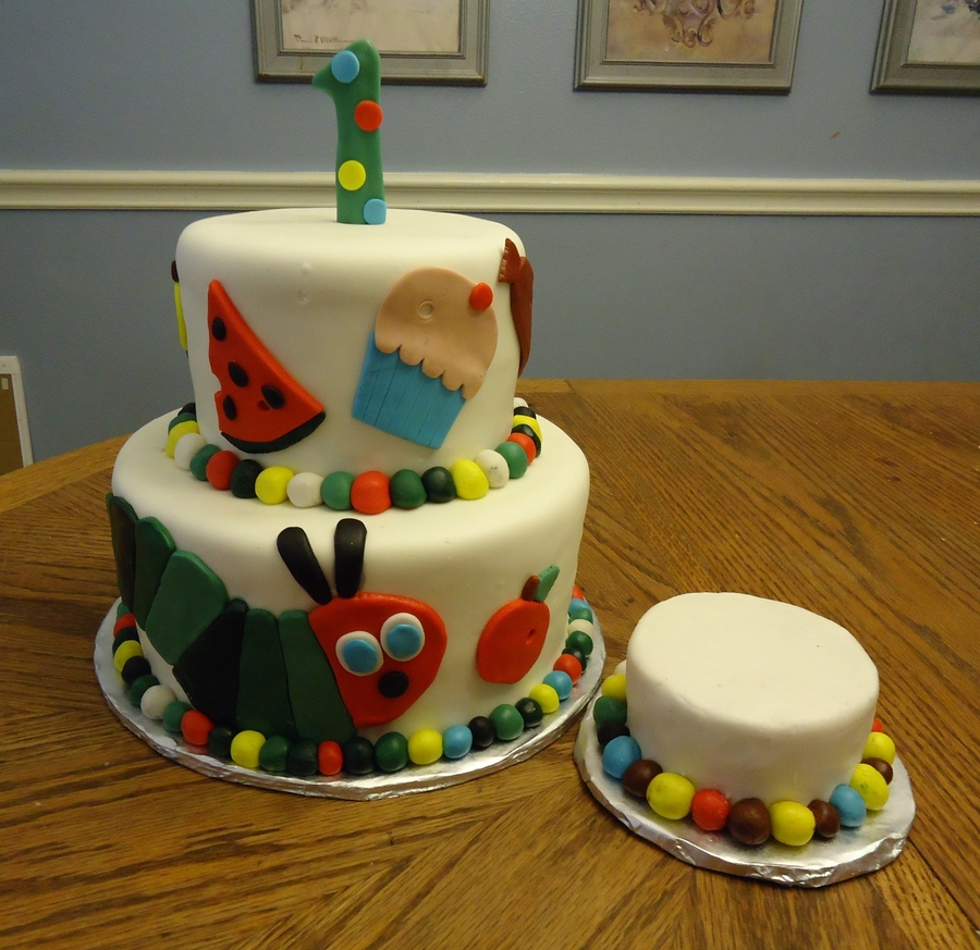Very Hungry Caterpillar on Cake Central