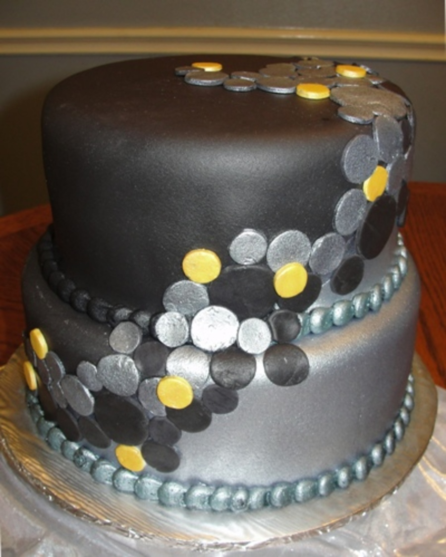 Black And Silver  on Cake Central